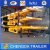 3 Axles 40FT Twist Locks Skeletonal Chassis Trailer for Container