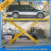 Hydraulic Floor Scissor Car Lift Platform for Home Garage or Parking