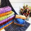 Solid Color Jacquard Semi-Velvet Pile Bath Towel (Bamboo Fiber)