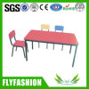 Kid Furniture Red Color Study Table with Chair (KF-49)