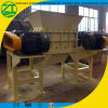 Plastic Double Shaft Shredder for Drum Container Cardboard Pallet