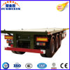 40FT 3 Axles Flat Bed Container Chassis Semi-Trailer for Sale