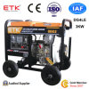 3kw Air-Cooled Diesel Generator Set with Big Wheels