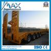 4 Axle Low Bed Trailer/Semi Trailer/Heavy Machine Loader