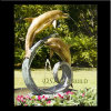 Bronze Fountain, Brass Dolphin Garden Fountain (DS-10)