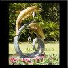 Bronze Fountain, Brass Dolphin Garden Fountain (DS-10)