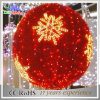 Christmas Red Color Iron Fram Holiday Decoration LED Light Balls