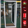 PVC Exterior Hurricane Impact Tinted Glass Front Casement Doors