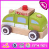 2015 New Product Wood Taxi Car Mini Toys Gift Toys, High Quality Kids Wooden Taxi Toy Car, Promotional Taxi Wooden Toy Car W05c010