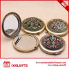 New Design Antique Copper Metal Round Vintage Style Cosmetic Mirror