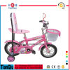 Pink Kids Bike with High Back Rest Saddle Children Bicycle