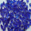blue Crushed Landscaping Glass