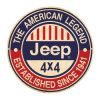 American Legend Jeep Round Metal Sign