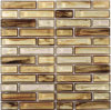 Brown Strip Crystal Glass Mosaic