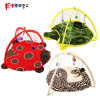 2018 New Cat Play Tent Ladybug Fleece Pet Products Dog Toys