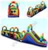 Bikidi Great Attraction Fashion Outdoor Obstacle Course Equipment/Colourful Rainbow Inflatable Obstacle