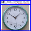 Blue Frame Logo Printing Round Plastic Wall Clock (Item12)