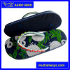 PE Fashion Print Flip Flop with Decoration on The Strap