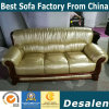 iPhone Champagne Color Leather Sofa, 1+2+3 Combination Modern Sofa (A06)