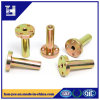 Yellow Zinc Flat Head Nut with Four Holes