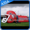 Commercial Inflatable Lawn Red Helmet/ Inflatabl Outdoor Sports Tunnel Tent