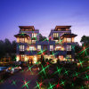 Laser Light Show with Solar Garden Lights for Star Shower Motion