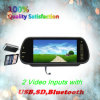7'' Car Rearview Mirror Monitor with USB, SD, Bluetooth