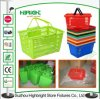 Grocery Shopping Basket Plastic Basket for Supermarket