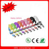 Dual Colored Flat Lightning 30pin USB Cable for iPhone4