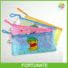 Plastic PVC Mesh Pen Pencil Stationery Set Pouch Holder Zipper