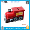 Creative Decoration Steam Train Ceramic Money Box