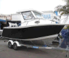 23FT Aluminum Cabin Fishing Boat