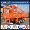 Cimc Huajun 3axle Stake/Cargo Semi Trailer with Lock and Roof Stick