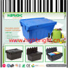 Plastic Nestable Storage Box Crate for Books and Retailing Stores