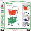 2-Tier Double Basket Shopping Basket Trolley