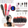 100% Original LCD Hair Straightener Brush Comb