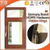 Thermal Break Aluminum Tilt & Turn Window Powder Coating Techniques Aluminum Clad Solid Oak Wood Window