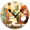 Design moderno Acrylic Wall Clock con Fancy Dial (13A022)