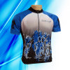 100% Polyester Man′s Short Sleeve Cycling Jersey