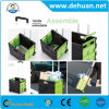 Folding Plastic Eco-Friendly Hot Selling Folding Shopping Wheeled Cart /Trolley