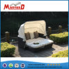 Outdoor Wicker/Rattan Furniture Chaise Lounge Daybed with Canopy