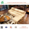 Shape Wood Frame Leather Sofa with Adjust Backrest