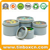 Round Tin Boxes Sets with Transparent PVC Clear Window Lid