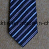 Poly Woven Navy Striped Necktie for Men