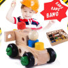 Wooden Changeable Nut Building Blocks Car Educational Children Toys