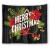 Christmas Decoration Custom Printed Santa Claus Elk Tapestry for Home