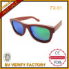 Origional Red Wood Sunglasses with Blue Polarized Revo Lens