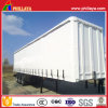 Tarpaulin Open Box Truck Steel Fabric Curtain Side Semi Trailer