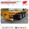 Frame Structure Platform Truck Trailer for 40FT Container Loading