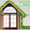 Arched Transom Aluminum Wood Casement Window with Divided Lites